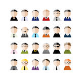 Set of business men peoples icons, cartoon for Stock Image