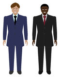 Set of Business Men Royalty Free Stock Photos