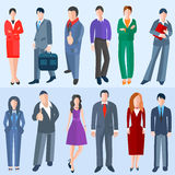 Set  business men and women Stock Images