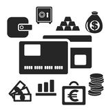 Set of business and money vector logo icons Royalty Free Stock Photo