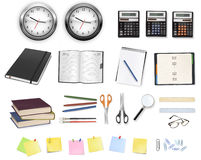 Set of business objects. Stock Images
