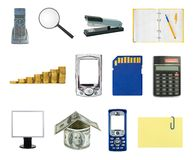Set of business objects Royalty Free Stock Image