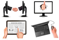 Set of business and office backgrounds Stock Photography