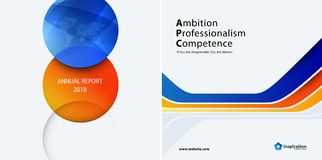 Set Business orange blue design of abstract vector elements for graphic template. Modern background. Stock Photo