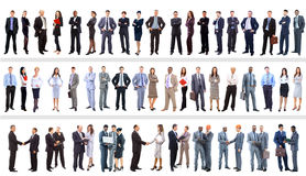 Set of business people. Isolated on white