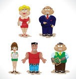 Set of business people Royalty Free Stock Photo