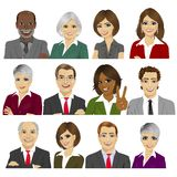 Set of business people avatar collection of workers team stock illustration