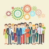Set of business people. Collection of diverse characters in flat cartoon style, vector illustration Stock Image