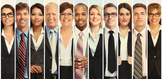 Set of business people royalty free stock photography