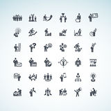 Set of business people concept icons Royalty Free Stock Photos
