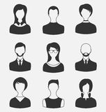 Set business people, different male and female user avatars isol Stock Photo