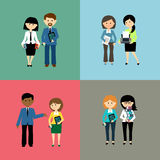 Set of business people Royalty Free Stock Images
