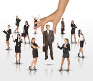 Set of business people with huge arm Stock Image