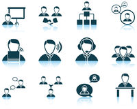 Set of business people icon Royalty Free Stock Image