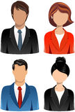 Set of Business People Icons. Illustration featuring a set of four head and shoulder business people icons isolated on white background. Eps file is available Royalty Free Stock Photo
