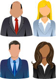 Set of Business People Icons. Illustration featuring a set of four head and shoulder business people icons isolated on white background. Eps file is available Royalty Free Stock Photography
