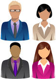 Set of Business People Icons. Illustration featuring a set of four head and shoulder business people icons isolated on white background. Eps file is available Stock Image