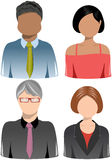 Set of Business People Icons. Illustration featuring a set of four head and shoulder business people icons isolated on white background. Eps file is available Stock Photography