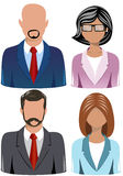 Set of Business People Icons. Illustration featuring a set of four head and shoulder business people icons isolated on white background. Eps file is available Stock Photos