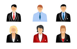 People icons. Set of business people icons isolated on white Stock Illustration