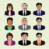 Set of business people icons Royalty Free Stock Images