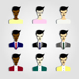 Set of business people icons Stock Photography