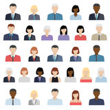 Set of business people icons Stock Photo