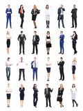 Set of business people isolated on white Royalty Free Stock Photos