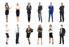 Set of business people isolated on white Royalty Free Stock Photo