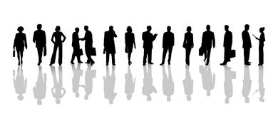 Set of Business people silhouettes Stock Images