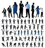 Set of business people silhouettes. Royalty Free Stock Photography