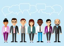 Set of business peoples in flat colorful style. Illustration of different manager man and woman Stock Photo