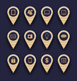 Set business pictogram icons for design your website Royalty Free Stock Images