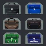 Set of  business portfolios Royalty Free Stock Photo