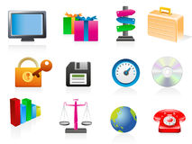 Set of business related vector icons Stock Image