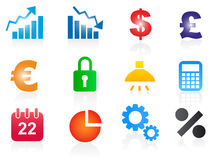 Set of business related vector icons Royalty Free Stock Photo