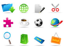 Set of business related vector icons Stock Photos