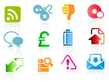 Set of business related vector icons Royalty Free Stock Photos