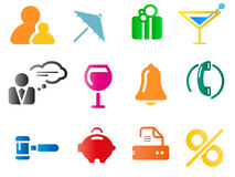 Set of business related vector icons Stock Photography