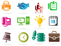 Set of business related vector icons Stock Photo