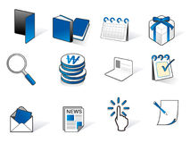 Set of business related vector icons Stock Images
