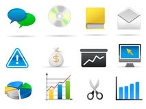 Set of business related vector icons Royalty Free Stock Photography