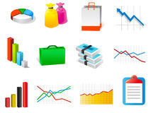 Set of business related vector icons Royalty Free Stock Images