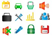 Set of business related vector icons Royalty Free Stock Image
