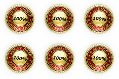 Set of business seals over white Royalty Free Stock Image