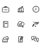 Set of business and shopping icons Royalty Free Stock Photos