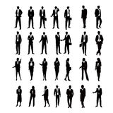 Set Business Silhouettes Royalty Free Stock Photo