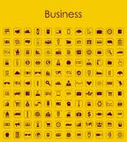 Set of business simple icons Royalty Free Stock Photos