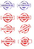 Set of business stamps Stock Photography