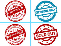 Set of business stamps Stock Image